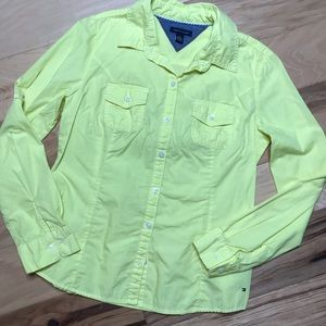 Tommy Hilfiger Sz M yellow button down